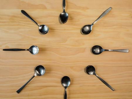 overhead shot: overhead shot image of spoon backgrouns