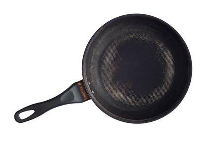 non: non stick flying pan isolated on white Stock Photo