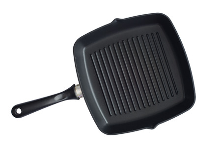 non stick: non stick grill pan isolated on white