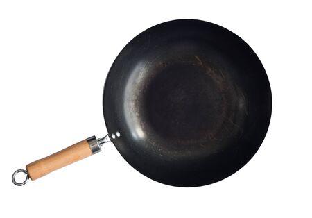 asian style: asian style wok isolated on white