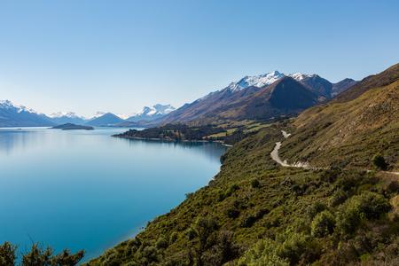 new zealand: beautiful road along the Lake