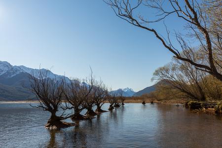 wakatipu: Lake Wakatipu in Glenorchy, New Zealand Stock Photo