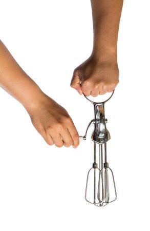 crank: Whisk to Crank isolated on white background