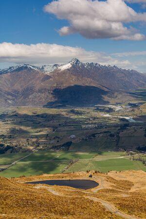 coronet: Queenstown area overlook from top of the Coronet Peak, New Zealand