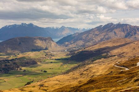 coronet: Queenstown area overlook from top of the Coronet Peak, New Zealand