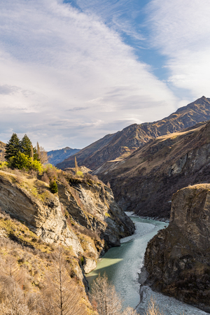 coronet: Canyon Landscape of Skipers Canyon. Skippers Canyon is a historic and scenic gorge, locateds close to Queenstown, New Zealand