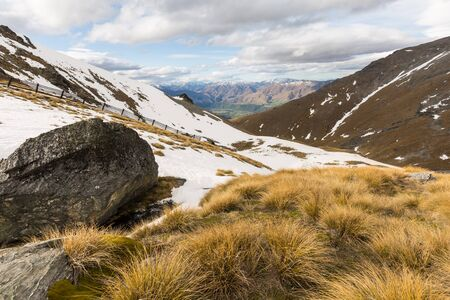 australasia: view of the Remarkables mountain in Queenstown, New Zealand Stock Photo
