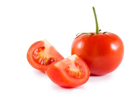 fresh red tomato isolated on white Stok Fotoğraf - 47801002