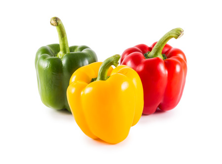 Sweet bell pepper (capsicum) isolated on white Stock Photo