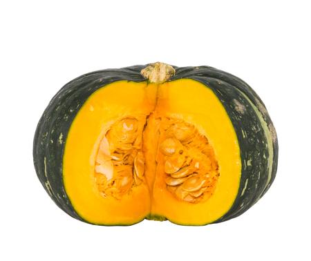 green pumpkin isolated on white Standard-Bild
