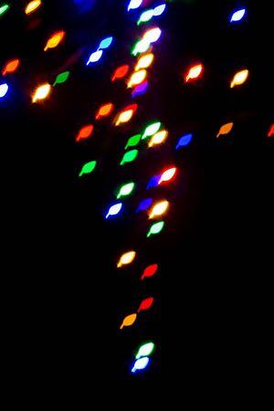 leaf shape: colorful leaf shape lights background Stock Photo