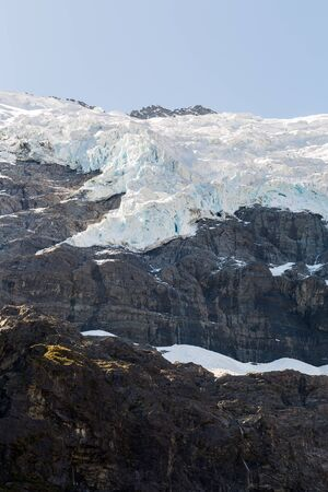 aspiring: Majestic view of Rob Roy Glacier, Mount Aspiring National Park, New Zealand Stock Photo