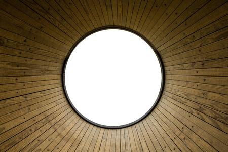round: round wooden frame