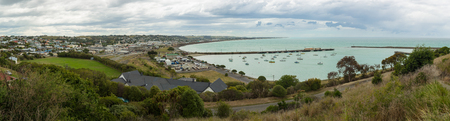 oamaru: panoramic view of Oamaru, New Zealand