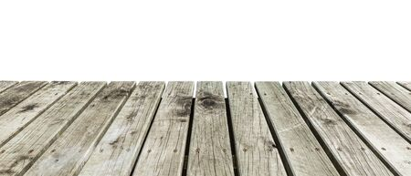 wooden pier isolated on white
