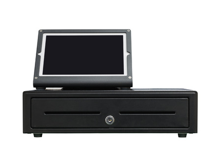 modern cash register operated with tablet