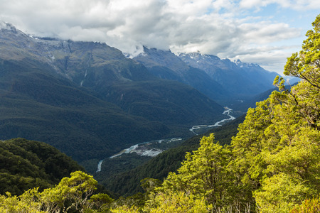 south island new zealand: Routeburn Track in South Island, New Zealand