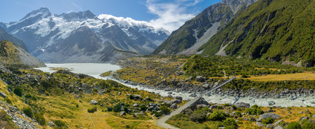hooker: Panoramic view of Hooker Valley in Mt Cook National Park