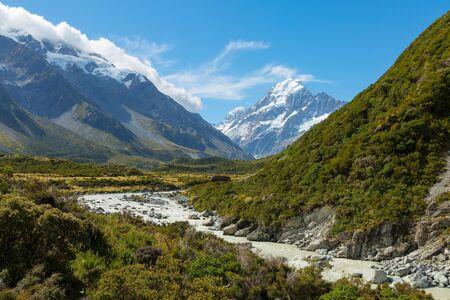 Hooker Valley in Mt Cook National Park, New Zealand