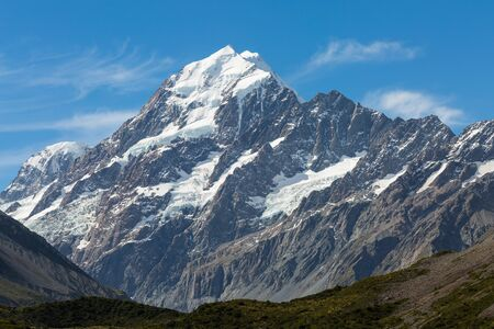 aoraki mount cook national park: Aoraki  Mount Cook, the highest mountain in New Zealand Stock Photo