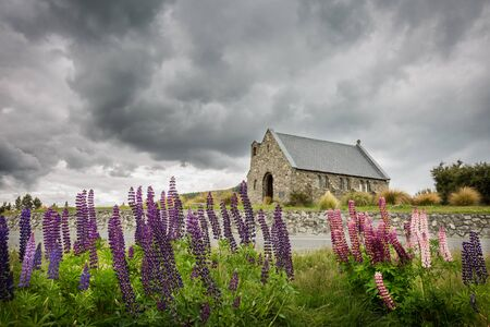 tekapo: Church of the Good Shepherd in Tekapo, New Zealand