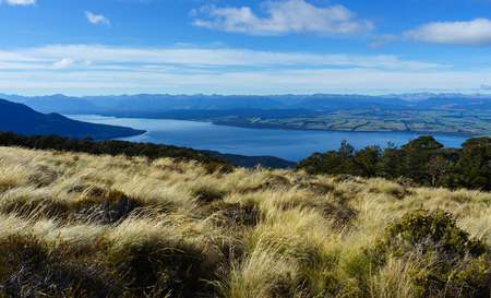 kepler: Beautiful landscape of Kepler Track, one of the New Zealand Great Walks. Stock Photo