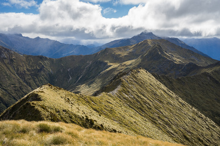 kepler: An alpine section of the Kepler Track, one of the New Zealand Great Walks Stock Photo