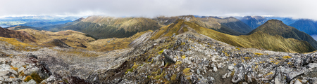 anau: Panoramic view of Kepler Track from Mount Luxmore summit
