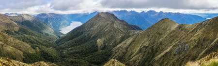 kepler: Panoramic view of Kepler Track, one of the New Zealand Great Walks.
