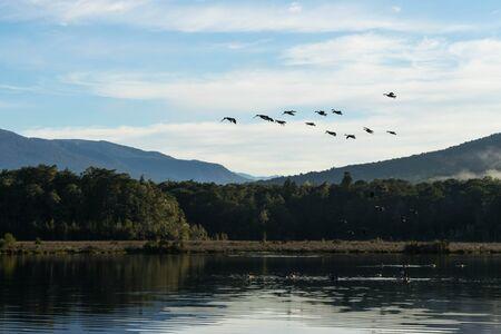kepler: Spirit lake at Kepler track in Te Anau, New Zealand Stock Photo