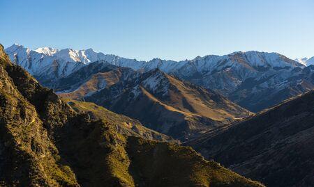 Mountain range in Queenstown, New Zealand