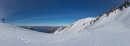 Panoramic view of snow fields Stok Fotoğraf