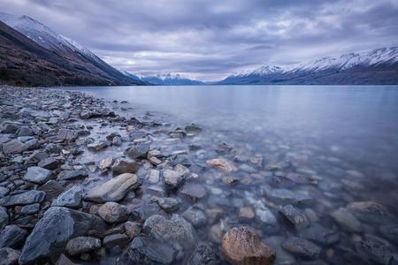 view of beautiful lake Stok Fotoğraf