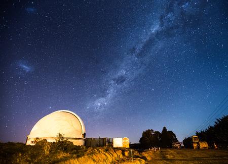 Observatory dome and Milky Way background Stok Fotoğraf - 68487896