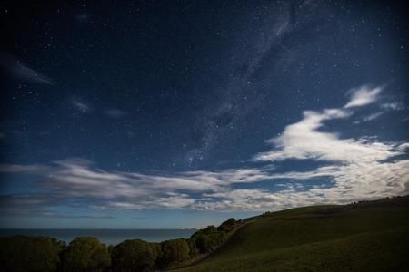 Milky way  at Bushy Beach in Oamaru, New Zealand