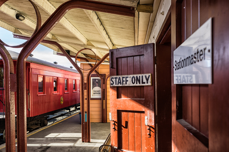 oamaru: Old train station Stock Photo