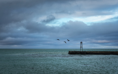 Dramatic sea and sky background Stok Fotoğraf - 68490103