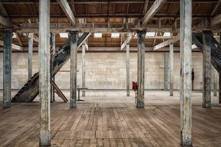 Empty grunge warehouse background