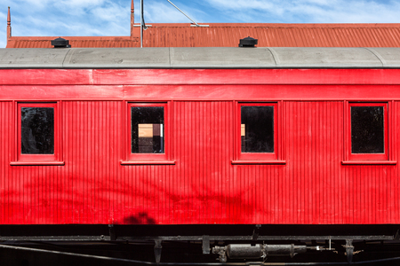 Red train carriage background