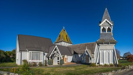 St Augustine's Church in Waimate, New Zealand Stok Fotoğraf - 68742747