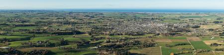 Overlook view of Waimate in New Zealand