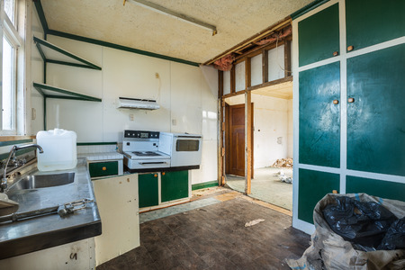 Abandoned kitchen waiting to be renovated