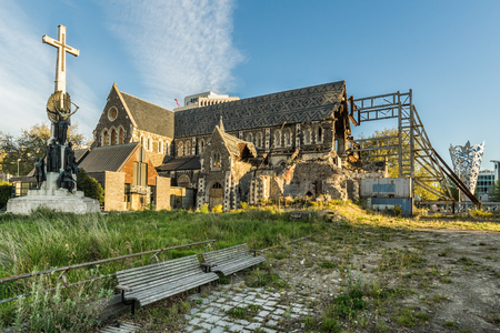 Damaged Christchurch Cathedral demolished by earthquake
