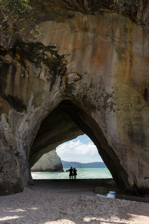 Cathedral Cove, Coromandel Halbinsel, Nordinsel, Neuseeland Standard-Bild - 70014566