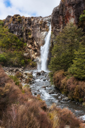 Taranaki Falls in Tongariro National Park, New Zealand