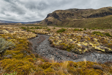 Beautiful landscape of Tongariro national park, New Zealand