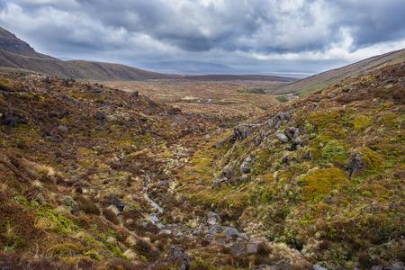 Schöne Landschaft des Tongariro Nationalparks, Neuseeland Standard-Bild - 70180368