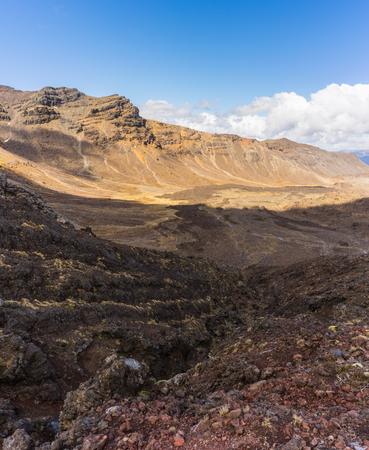 Schöne Landschaft des Tongariro Nationalpark, Neuseeland Standard-Bild - 70259689