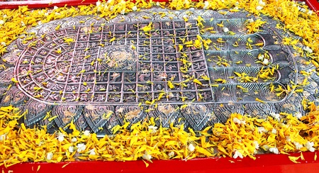 big toe: Buddha s footprint in Thailand