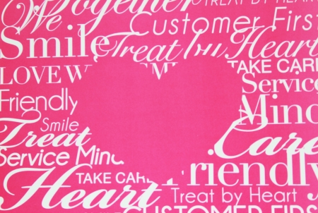 everybody: Pink heart for everybody Stock Photo